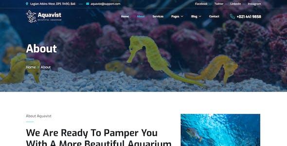 Aquavist – Fish Aquarium & Aquascape Elementor Template Kit