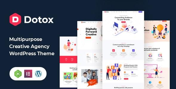Dotox - Multipurpose Creative Agency WordPess Theme - Creative WordPress