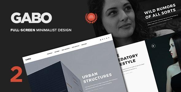 Gabo - Minimalist & Full-Screen WordPress theme - Personal Blog / Magazine