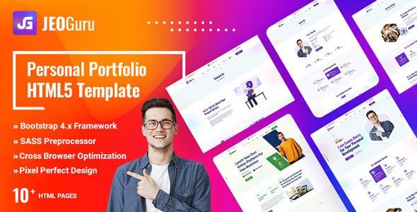 Jeoguru - Personal Portfolio HTML5 Template - Portfolio Creative