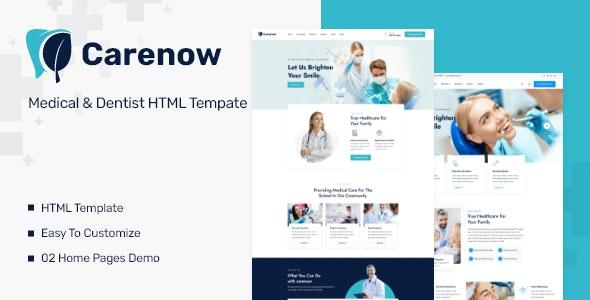 Carenow v1.0.1 – Medical & Dentist HTML Tempate
