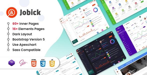 Jobick : Job Admin Dashboard Bootstrap 5 Template - Admin Templates Site Templates