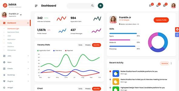 Jobick : Job Admin Dashboard Bootstrap 5 Template