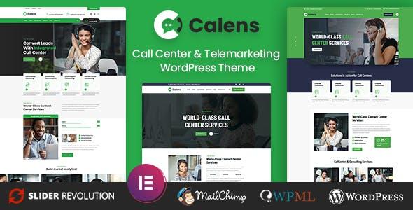 Calens - Call Center Services WordPress Theme