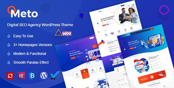 Meto   SEO & Marketing WordPress Theme