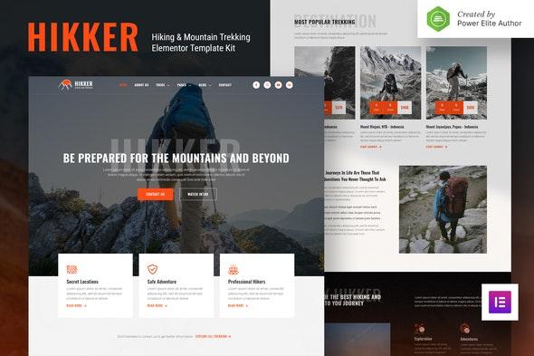 Hikker – Hiking & Mountain Trekking Elementor Template Kit - Travel & Accomodation Elementor