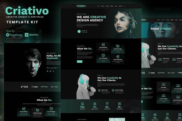 Criativo - Creative Agency & Portfolio Elementor Template Kit - Creative & Design Elementor