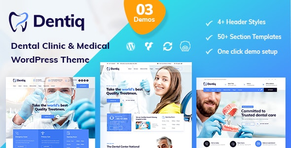 Dentiq - Dental & Medical WordPress Theme - Health & Beauty Retail
