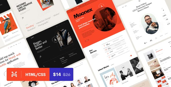Moonex  - Portfolio & Agency HTML Template