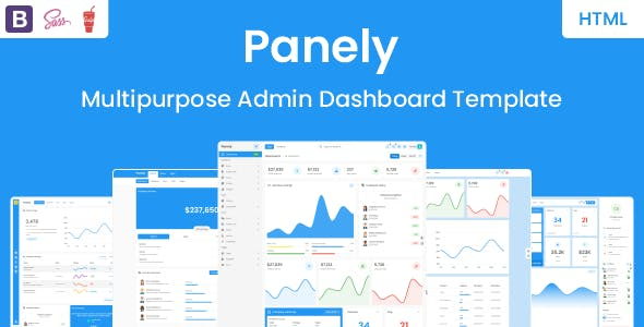Panely - Bootstrap Multipurpose Admin Dashboard Template