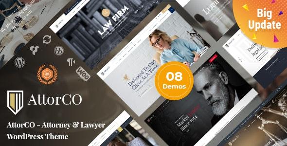 AttorCO - Attorney & Lawyers  WordPress Theme - Business Corporate