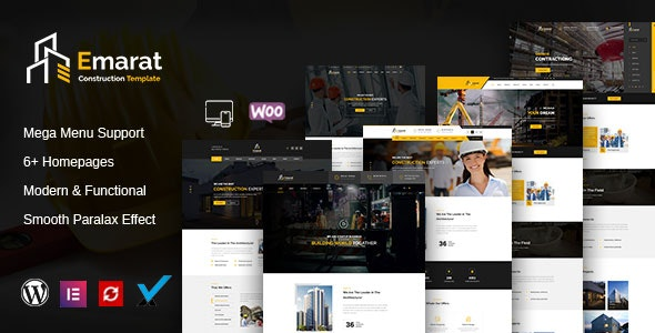 Emarat - Construction WordPress Theme - Business Corporate