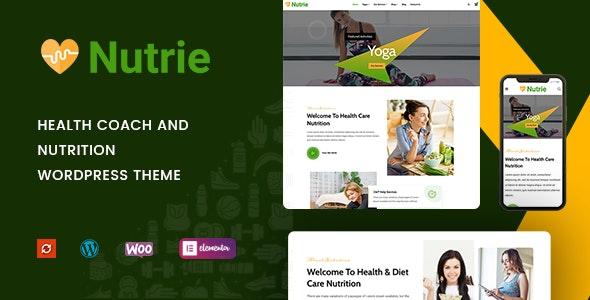 Nutrie - Health Coach and Nutrition WordPress Theme - Education WordPress