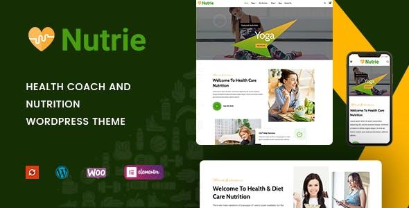 Nutrie - Health Coach and Nutrition WordPress Theme