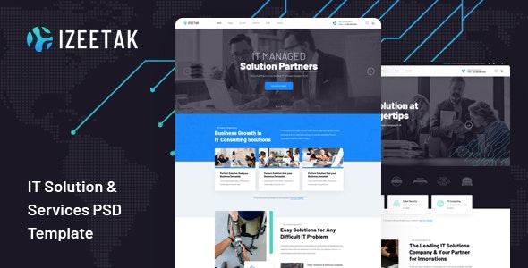 Izeetak - IT Solutions & Services PSD Template - Software Technology