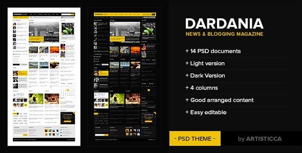 Dardania - PSD Templates