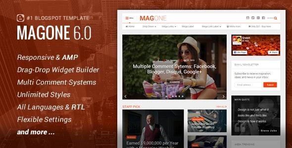 MagOne - Responsive News & Magazine Blogger Template - Blogger Blogging