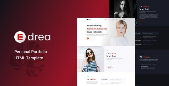 Edrea - Personal Portfolio Template