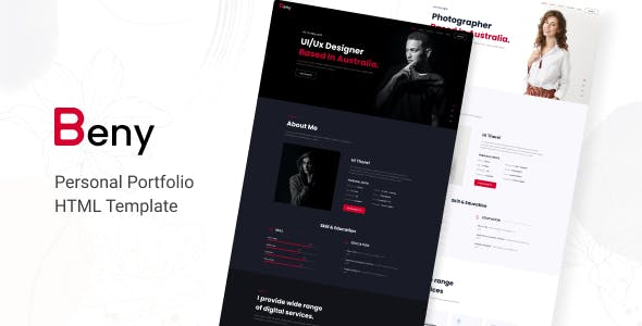 Beny - Personal Portfolio Template