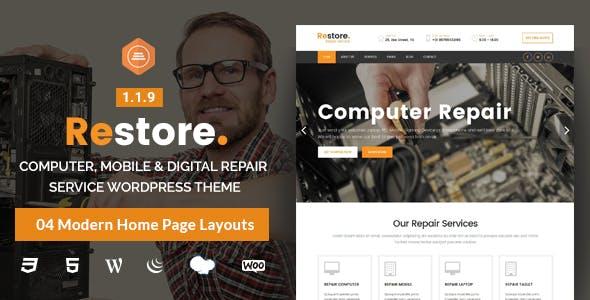 Restore - Computer, Mobile & Digital Repair Service WordPress Theme