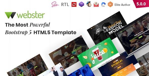 Webster - Responsive Multi-purpose HTML5 Template