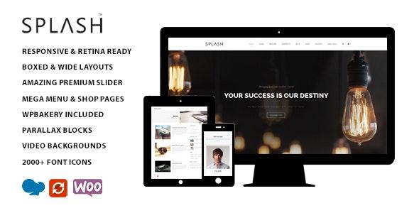 Splash - Multipurpose Wordpress Theme - Corporate WordPress