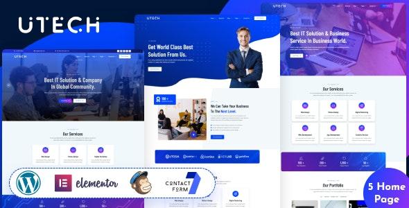 uTech - IT Solutions & Services WordPress Theme - Technology WordPress