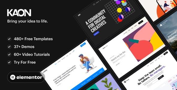 Kaon - WordPress Theme for Creatives & WooCommerce - Creative WordPress