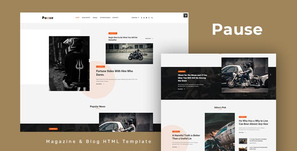 Pause - Blog and Magazine HTML Template