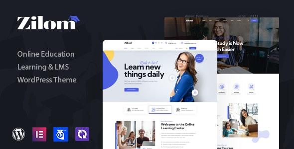 Zilom - Online Education Learning WordPress Theme - Education WordPress