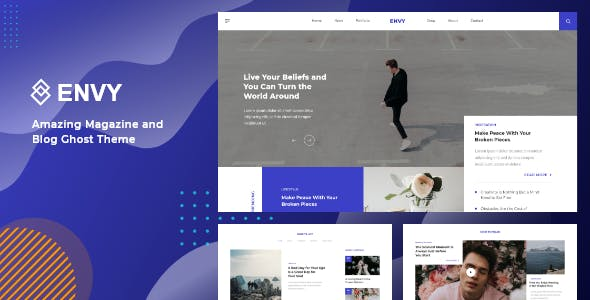 Envy - Blog and Magazine Ghost Theme