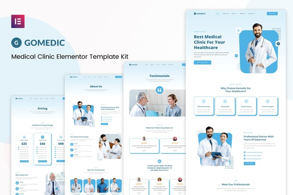 Gomedic - Medical Elementor Template Kit - Health & Medical Elementor