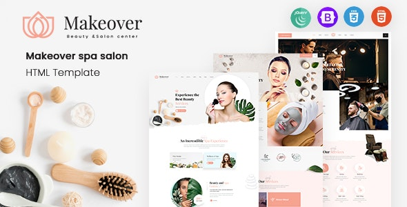 Makeover - Spa Saloon Responsive HTML5 Template - Health & Beauty Retail