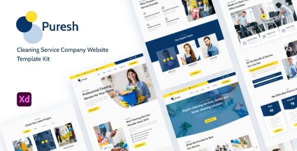 Puresh - Cleaning Service Website Template Kit - Business Corporate