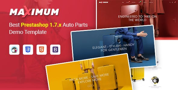 Maximum - Responsive PrestaShop 1.7 eCommerce Theme | Suitcase | Headphone Store