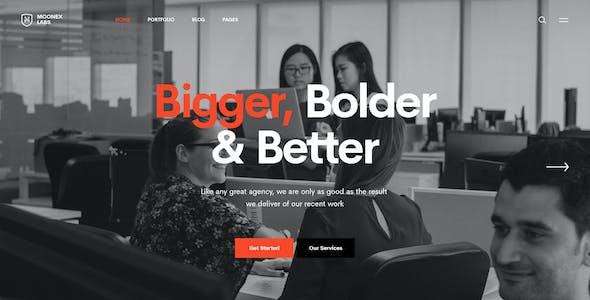Moonex - Creative Portfolio PSD Template
