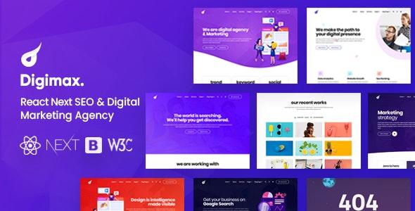 Digimax - React Next SEO & Digital Marketing Agency Template - Marketing Corporate