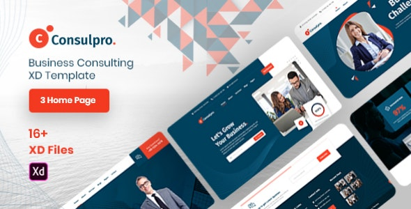 Consulpro - Business Consulting XD Template - Business Corporate