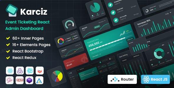 Karciz - React Redux Ticketing Admin Dashboard