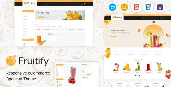 Fruitify - Juice OpenCart Theme - Health & Beauty OpenCart