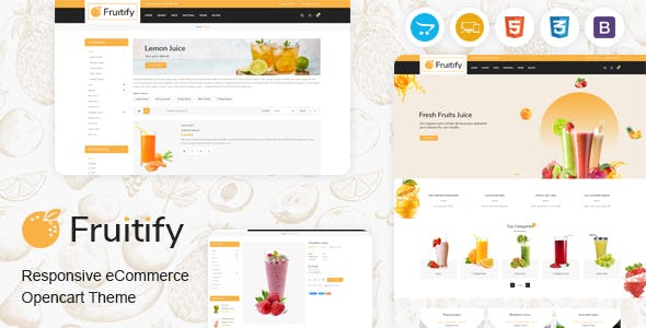 Fruitify - Juice OpenCart Theme