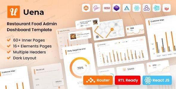 Uena - React Saas Admin Dashboard Template - Admin Templates Site Templates