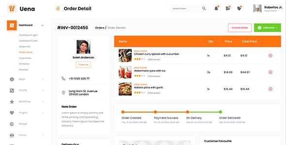 Uena - React Saas Admin Dashboard Template