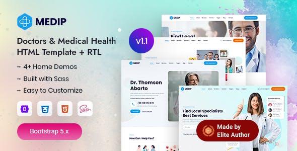 Medip - Doctors & Medical Health HTML Template