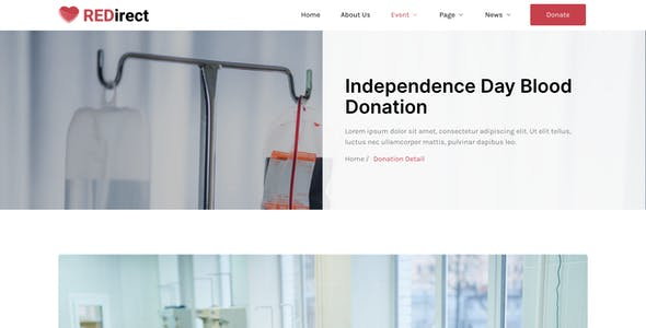 Redirect – Blood Donation Campaign & Activism Elementor Template Kit