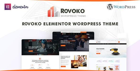 Rovoko - Construction WordPress Theme - Business Corporate
