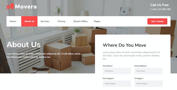 Movera - Moving Company Elementor Template Kit