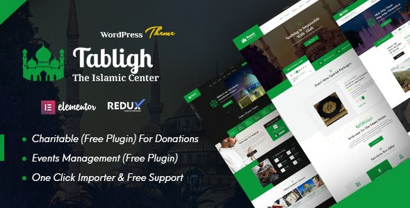 Tabligh - Islamic Institute & Mosque WordPress Theme + RTL