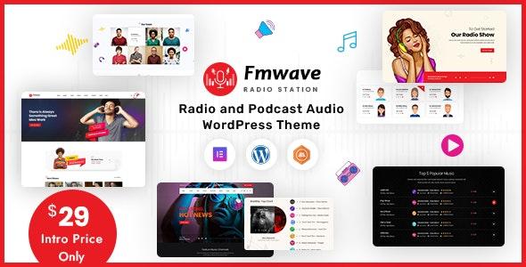 Fmwave - Radio Station WordPress Theme + RTL - Music and Bands Entertainment