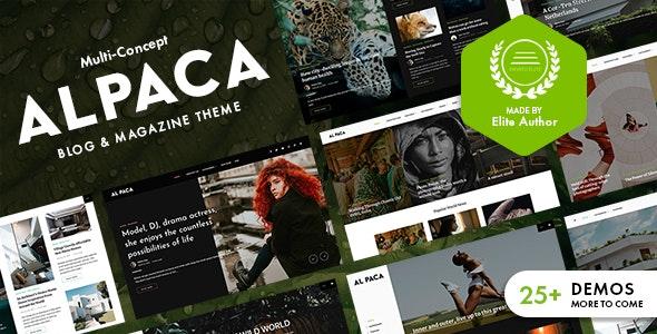 Alpaca - Blog & Magazine WordPress Theme - News / Editorial Blog / Magazine